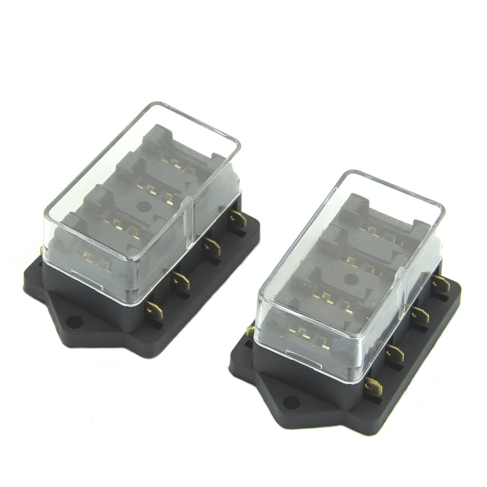 61ORZBxcnhL._SL1001_ amazon com estone 4 way fuse box block fuse holder box car Auto Blade Fuse Redirect at cos-gaming.co
