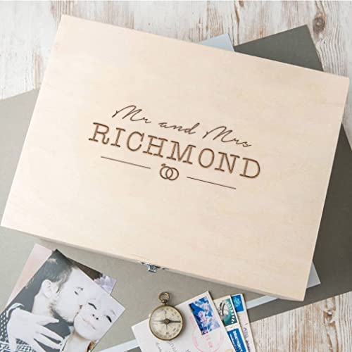amazon com personalized wedding keepsake box engraved wedding