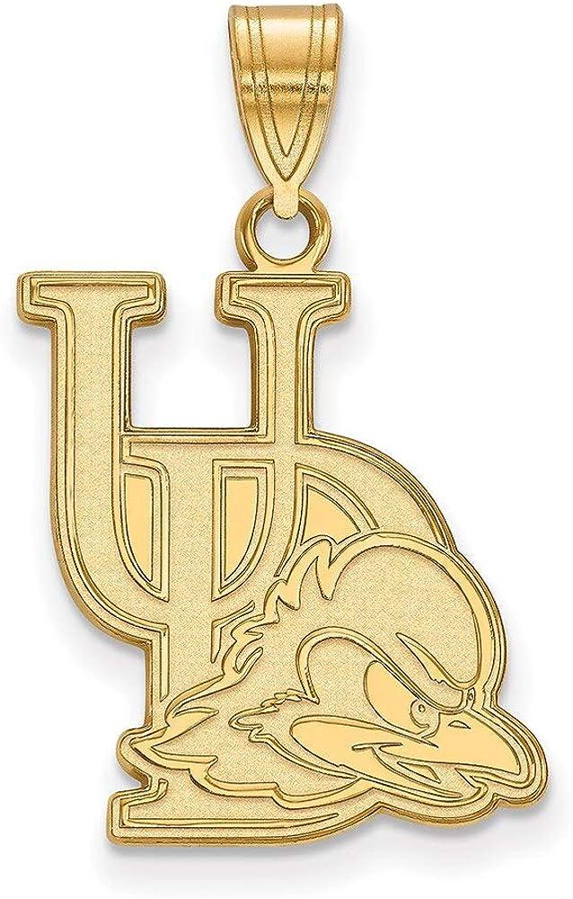 Lex /& Lu LogoArt 10k Yellow Gold University of Delaware Large Pendant