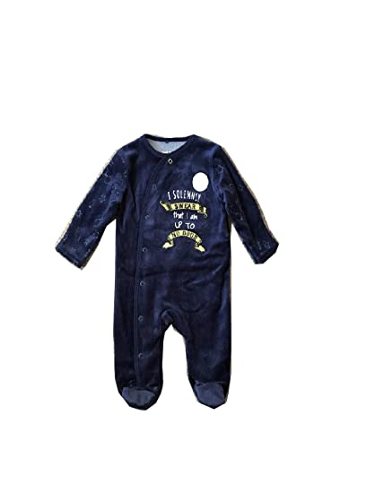 da4e61dfb HARRY POTTER Baby Clothes Sleepsuit Hat Primark (NAVY SOLEMNLY SWEAR  SLEEPSUIT / 3-6 MONTHS): Amazon.co.uk: Clothing