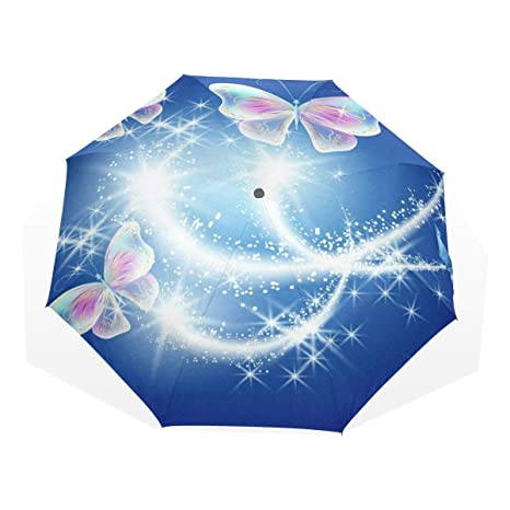 fad87219cd89 Amazon.com : Umbrella Butterfly Firework Star nAuto Open Umbrella ...