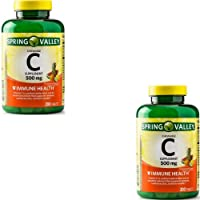 Spring Valley - Vitamin C Multiple Fruit Flavors 500 mg, 200 Chewable Tablets (2 Pack)