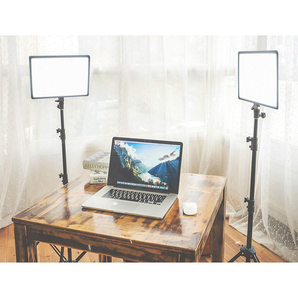 PLTHINK Luxpad 43H 15'' Bi-Color 3200K-5600K LED Lighting and PRO-203 Stand Set for YouTube Creator, Beauty Makeup, Live Streaming, Portrait Shooting, and Various Video Shooting(2 Stand Set) by PLTHINK (Image #5)