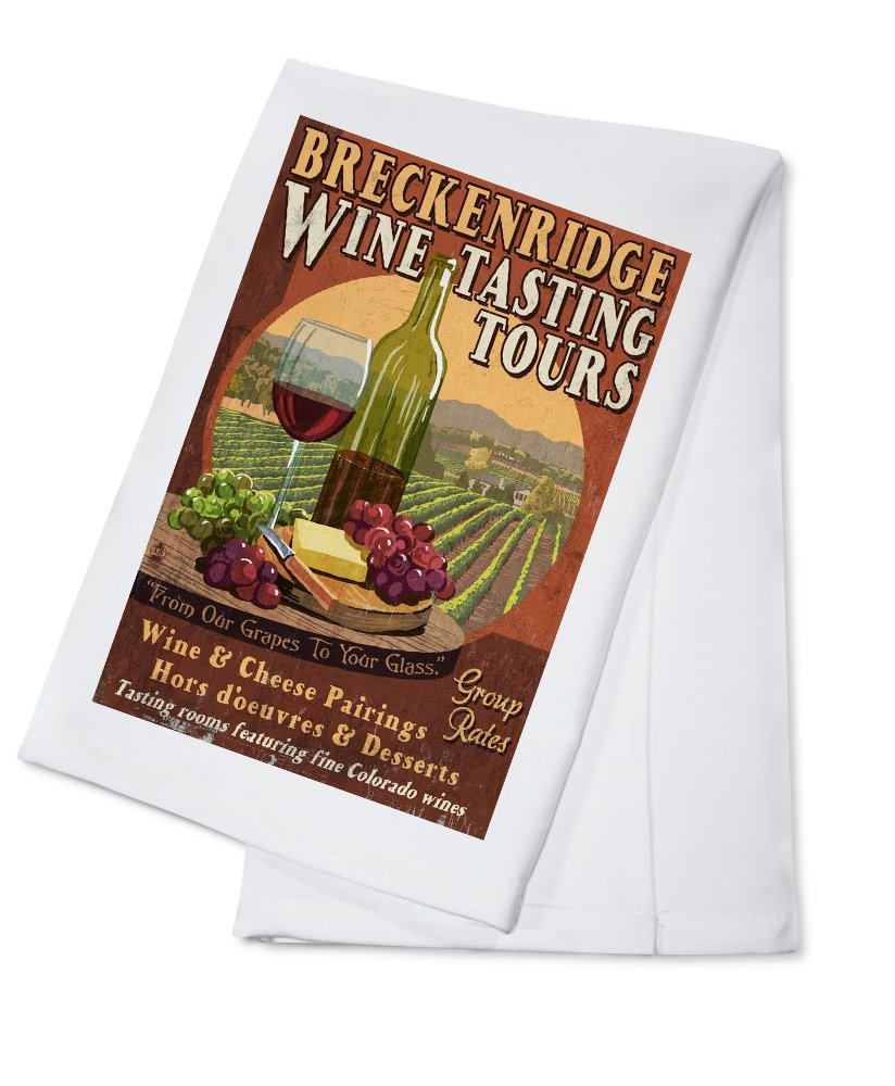 Breckenridge、コロラド – Wine Tasting Vintage Sign Cotton Towel LANT-43909-TL Cotton Towel  B0184BEDTK