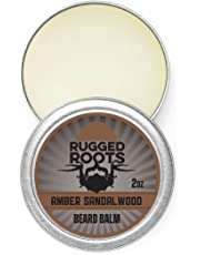 Rugged Roots Beard Balm(Amber Sandalwood) Leave in Conditioner and Softener, a Moisturizer for all Hair Types, Unique Gift for Men, Father's Day Gift