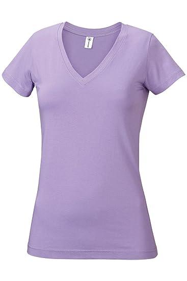 7143e0fcfb5e Amazon.com: Junior Girls Plain Basic Soft Ringspun Cotton V-neck T-Shirt:  Clothing