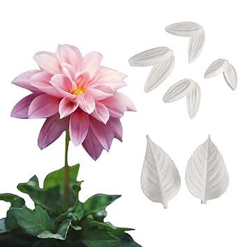 AK Art KITCHENWARE - Moldes de pasta de azúcar, diseño de flores, para decoración de pasteles: Amazon.es: Hogar