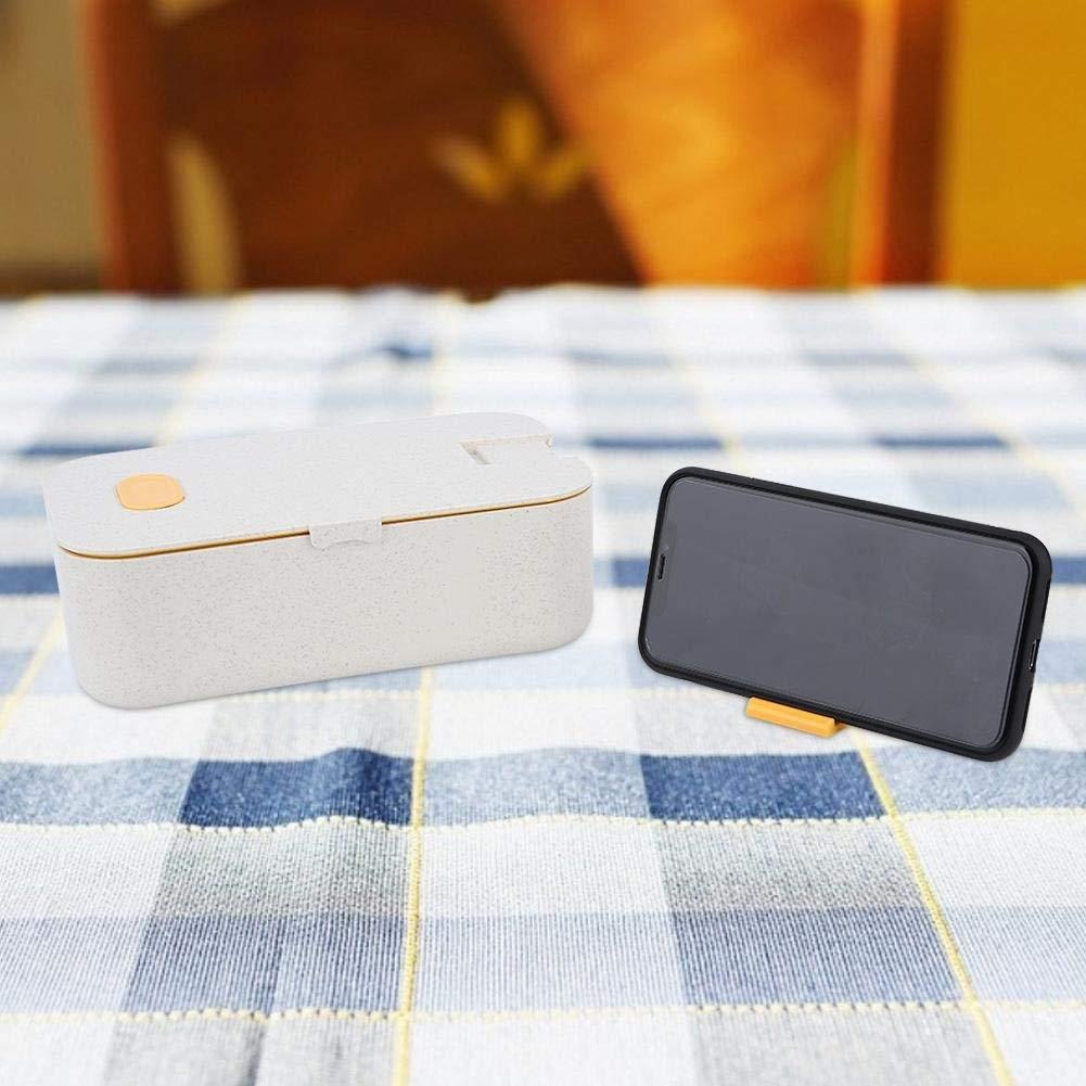 Delaman Lunch Box Portatile Rettangolare Single Layer Contenitore di Alimento Bento Box 800ml 1PC Colore : Yellow