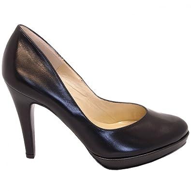 8648083b2c7 Peter Kaiser Lukrezia stiletto pumps in black leather  Amazon.co.uk ...