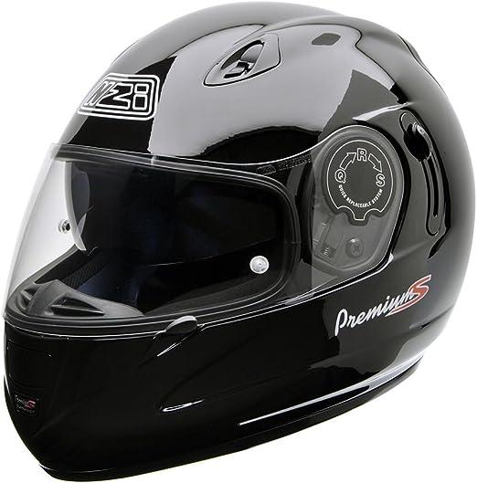 Negro Talla XS NZI 010193G047XS Premium S Duo Casco de Moto