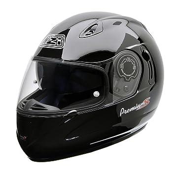 NZI 010193G047XS Premium S Duo Casco de Moto, Negro, Talla XS