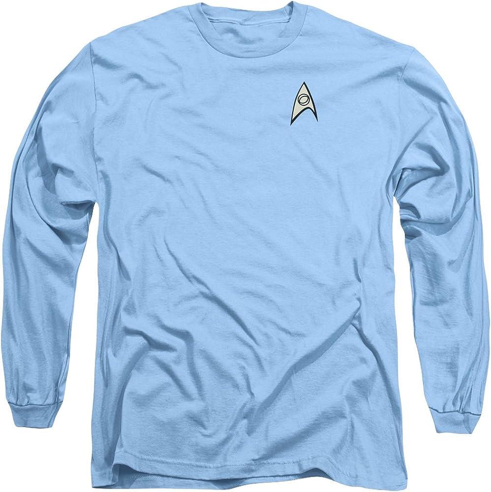 Authentic Star Trek TV Science Officer Logo Costume Uniform Outfit L//S T-shirt