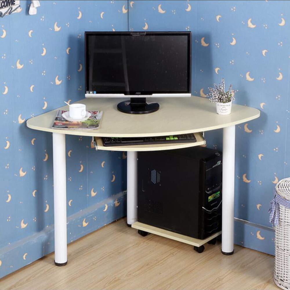 Colore : 72 * 72 * 74cm Desk Xiaolin Scrivania ad Angolo in Legno massello Scrivania ad Angolo scrivania da Tavolo Scrivania da Ufficio con Tastiera e Vassoio Host
