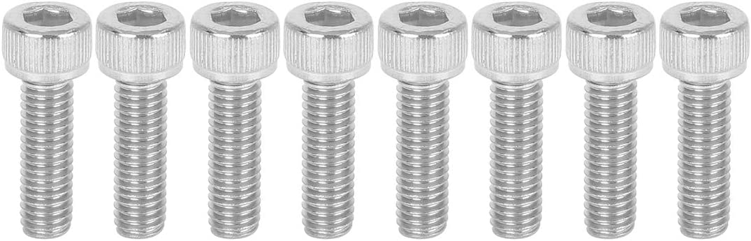 X AUTOHAUX Universal M6 Cage Nuts and M6 X 20mm Steel Mounting Screws Bolts Kit for Car