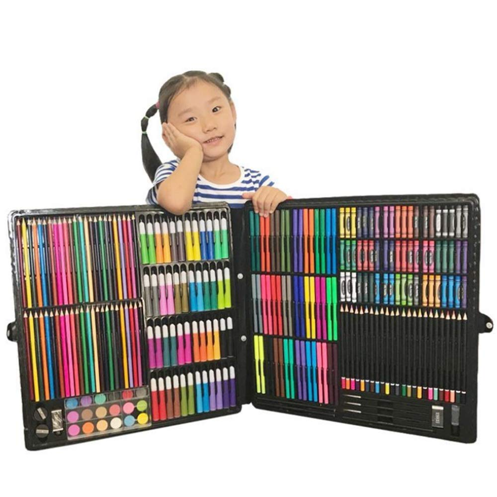 JIANGXIUQIN Artist Art Drawing Set, Watercolor Brush 258pcs Brush Pencils Set Water Color Pens with Flexible Nylon Brush Tips for Watercolor Painting Gifts for Children and Children. (Color : Color) by JIANGXIUQIN (Image #6)