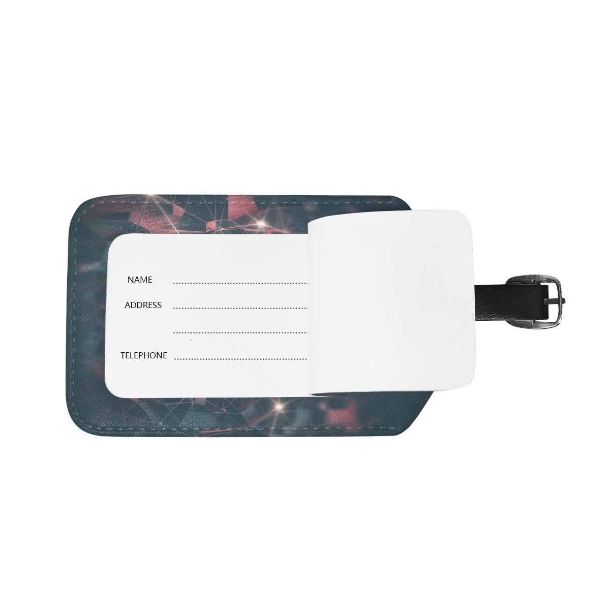 Saobao Travel Luggage Tag Artificial Intelligence PU Leather Baggage Suitcase Travel ID Bag Tag 1Pcs