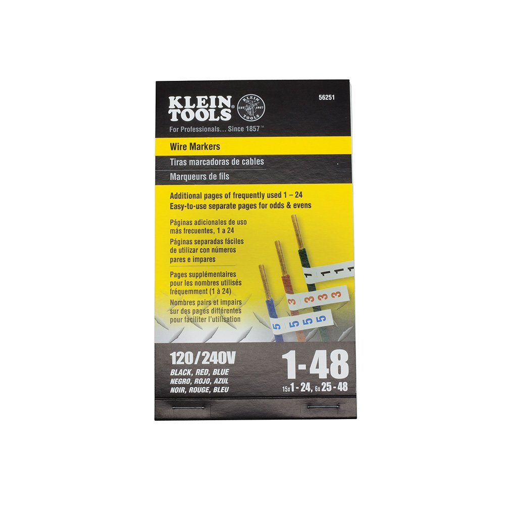 Wire Marker Book-Black Letters, Numbers and Symbols Klein Tools 56253