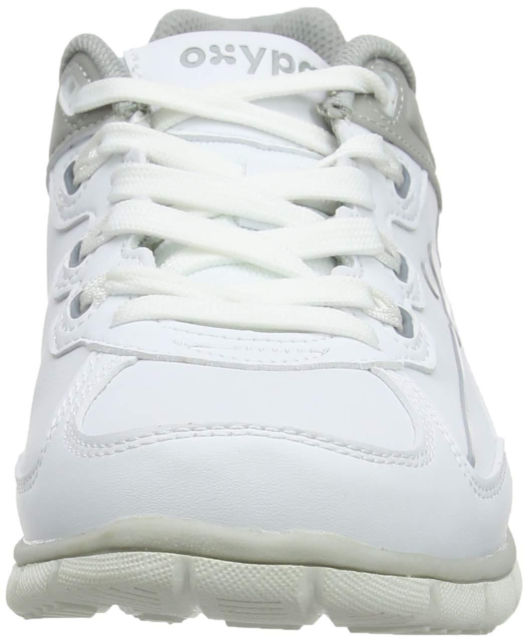White//Fuchsia 4 UK Antistatic Leather Nursing Trainers Oxypas Oxysport Sunny Slip-resistant Fuchsia 37 EU