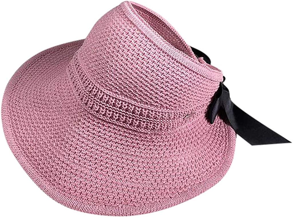 SANGQU Ladies Sun Hat Womens Outdoor Wide Brimmed Fishermans Hat Foldable Rolled Edges Sunscreen Hat Traveling Visors