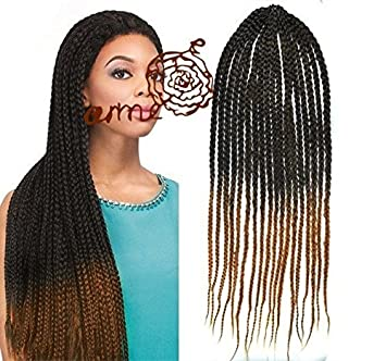 Amazon Com Black To Honey Blonde Two Colors Ombre Box Braids Hair