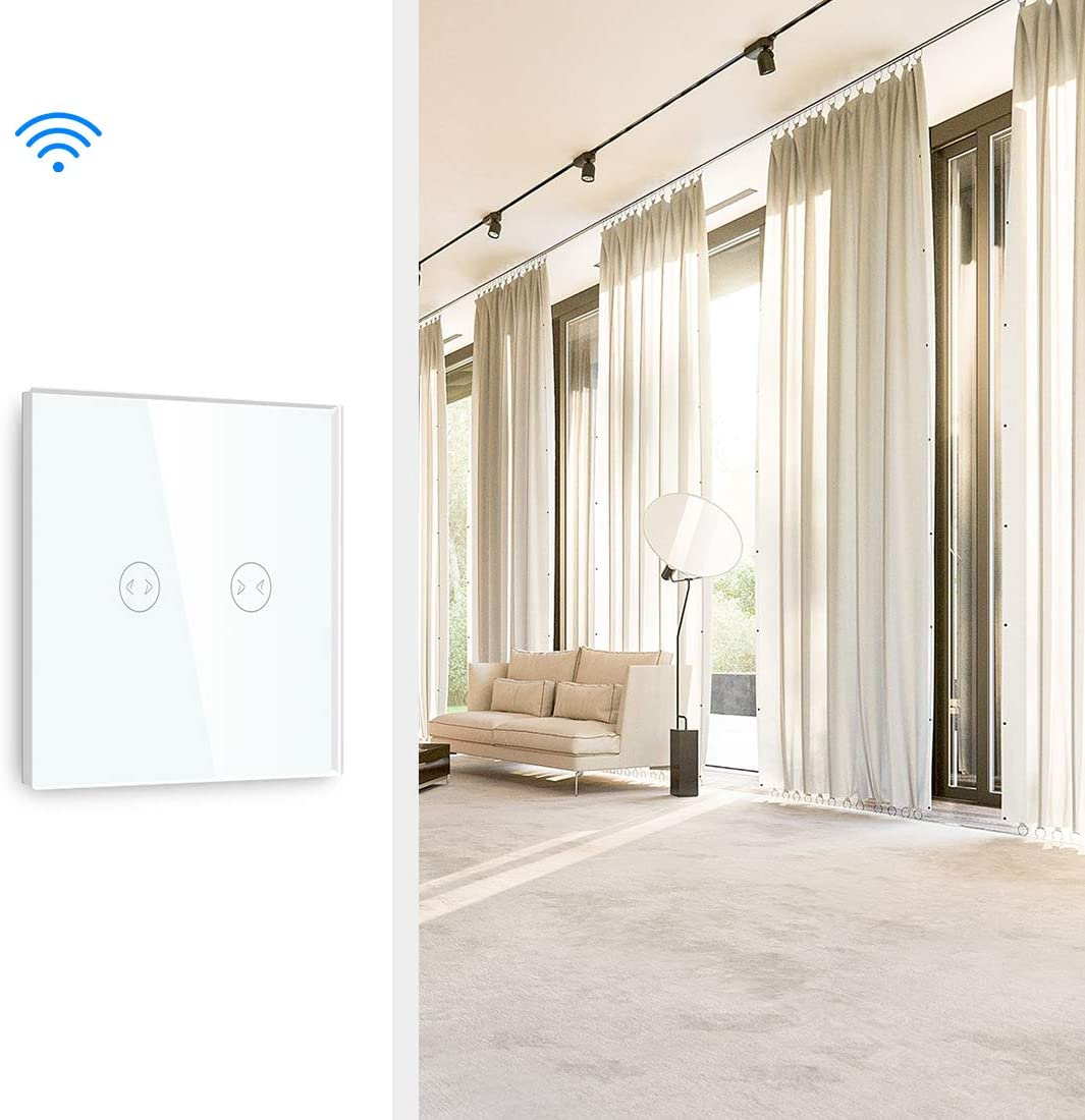 BSEED interrupteur tactile Interrupteur /à 3 Gang 1 Voies Connect/é WiFi Compatible avec Tuya Alexa Google Home et IFTTT,panneau tactile wifi gris(besoin de se connecter /à une ligne neutre)
