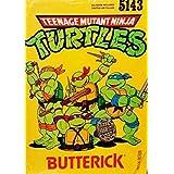 Butterick 5143 Teenage Mutant Nija Turtles All Child Sizes(4 to 14), 4 Variation Jumpsuit Costume Pattern