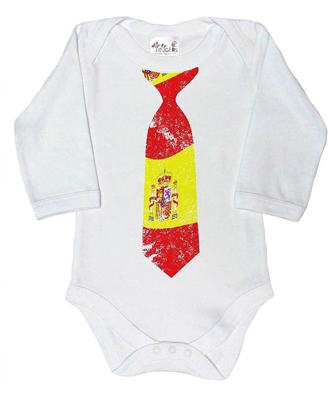 Dirty Fingers, Corbata con diseño de bandera Española, Bebés Body ...