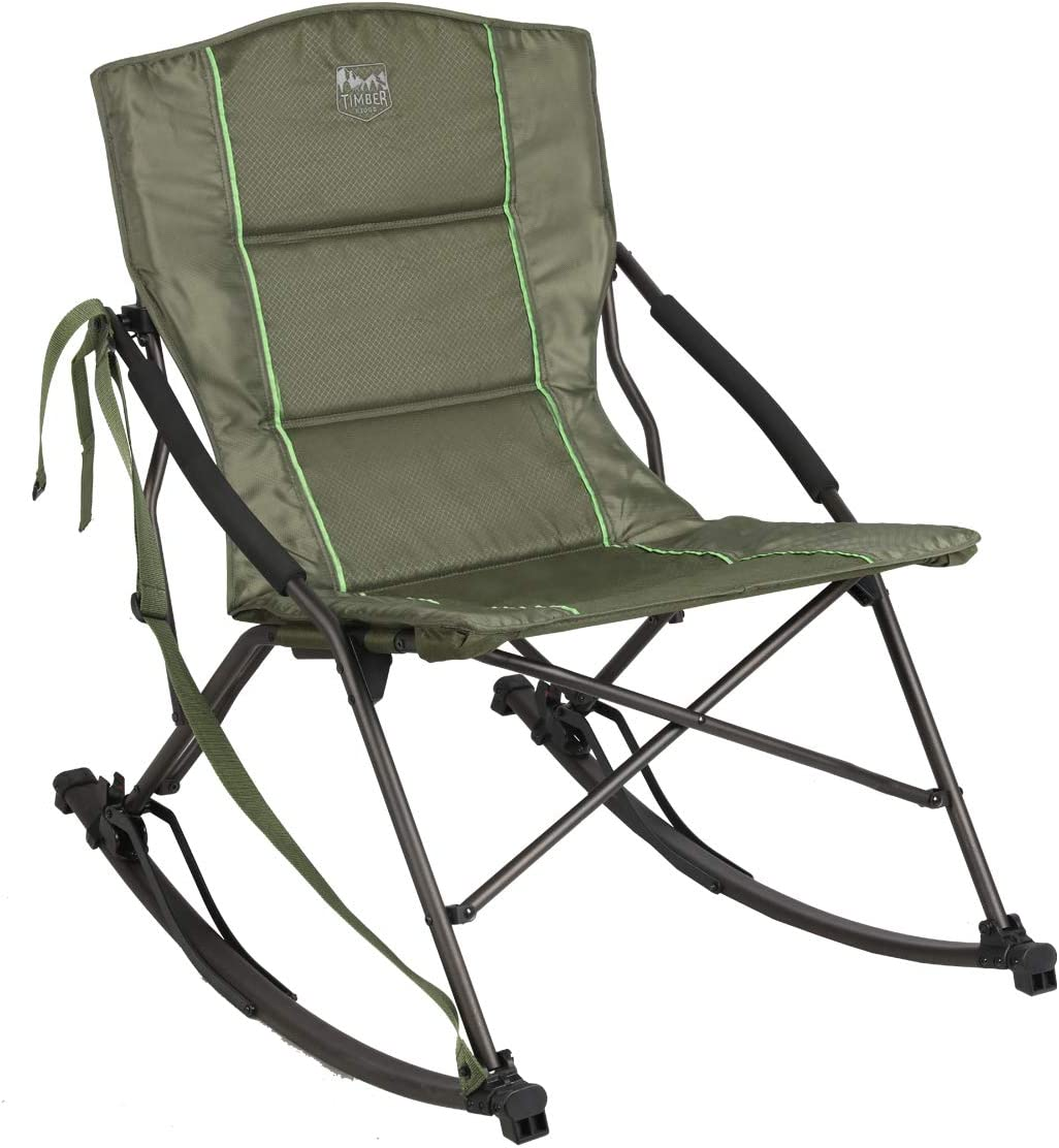 Details about  /Timber Ridge Bounce Ergonomic Aluminum Tube Frame Camping Rocking Chair