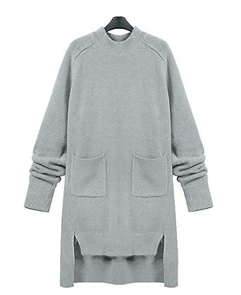Badi Na Womens Knit Plus Size Sweater Dress Cashmere Dresses Jumper