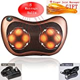 Back Shiatsu Neck Foot Massager Electric Shoulder Deep Tissue Massage Cushion,Relieve shoulder, back