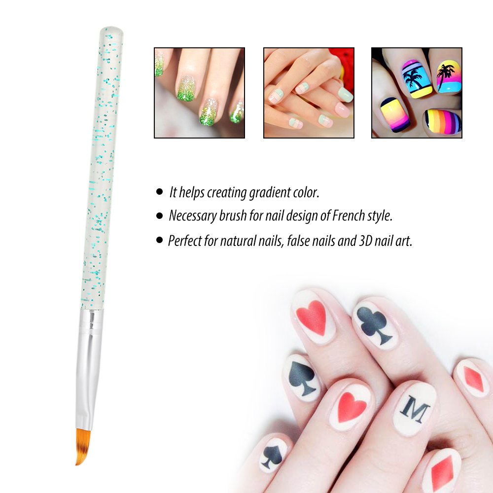 Amazon.com : Anself 1Pc French Nail Brush Gradient Painting Pen Nail ...