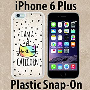 Cute Caticorn Unique Custom made Case/Cover/skin FOR iPhone 6 PLUS -White- Plastic Snap On Case ( Ship From CA)
