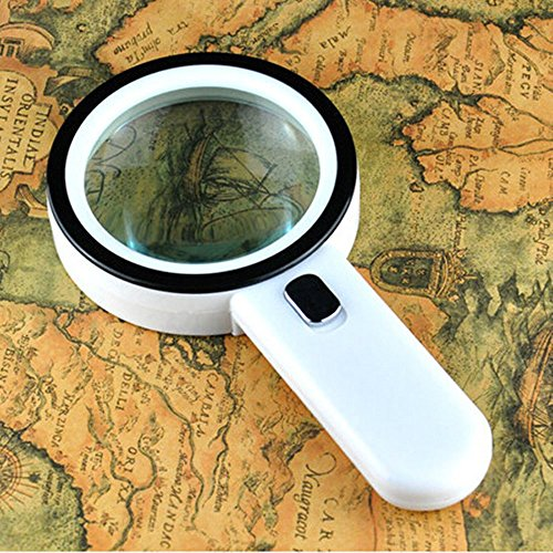 Efanr 20X Magnifier Glass with 12 LED Light Handheld Read...