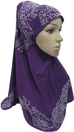 Muslim Women One Piece Hijab Hat Islamic Amira Headscarf Head Wrap Shawl Covers