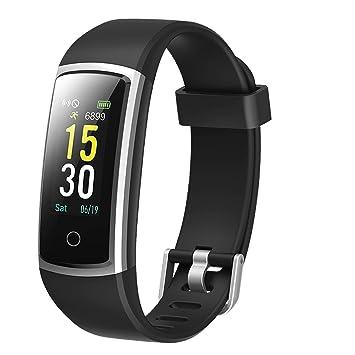 Lintelek Pulsera Actividad Impermeable, Reloj Inteligente con ...