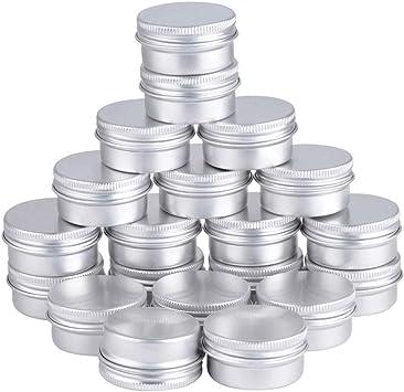 Teydhao – 20 cajas redondas de aluminio para cosméticos, caja ...