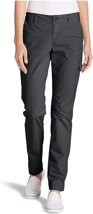 f7a237f483 Eddie Bauer Women's Adventurer Stretch Ripstop Cargo Pants - Slightly  Curvy,Dk Smoke (Grey