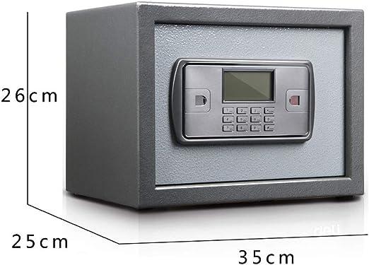 Inicio pequeña caja fuerte, 26 / 35cm Office Password dominante seguro, antirrobo de seguridad a prueba de fuego for entrar en el armario, inteligente dispositivo de alarma dual for invisible Caja: Amazon.es:
