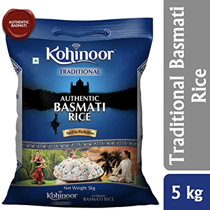 Kohinoor Traditional Authentic Aged Basmati Rice, 5 Kg