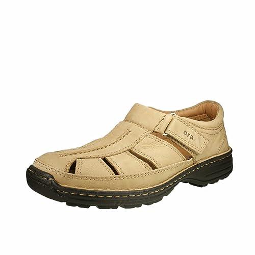 ara - Mocasines de cuero nobuck para hombre, color beige, talla 44: Amazon.es: Zapatos y complementos