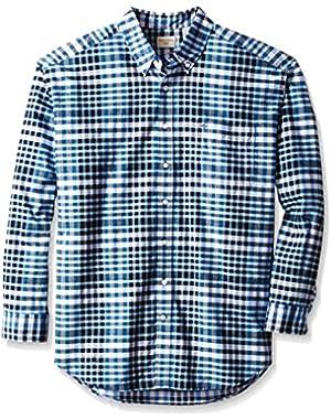 Men's Big-Tall Long Sleeve No Wrinkle Oxford Button Down Collar Shirt
