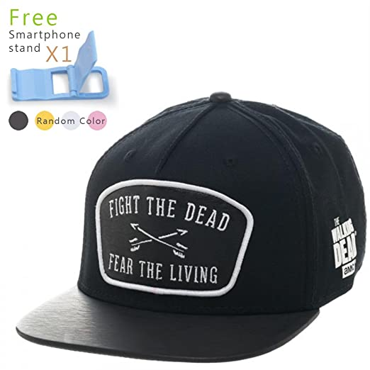 584c6063e Amazon.com: Walking Dead Leather Patch Snapback Baseball Cap: Clothing