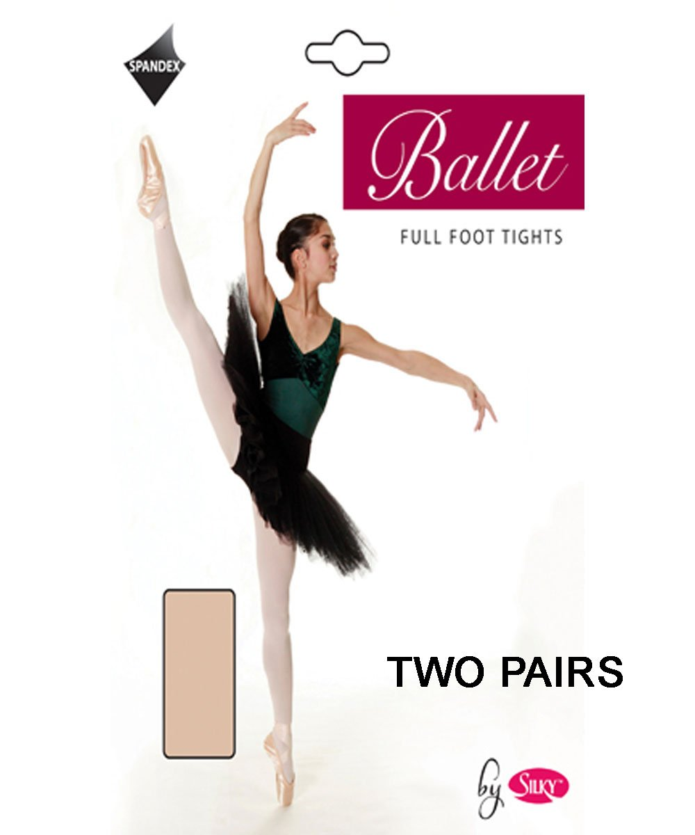 2 Pairs Silky Childrens Girls Full Foot Dance Ballet Tights 2 Pairs
