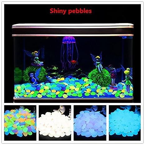 Eleganantamazing - Piedras Luminosas de Piedra Fluorescente para decoración de Acuario en casa (100 Unidades