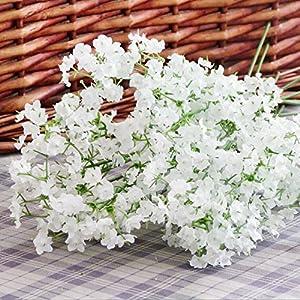 Wrisky Artificial Plastic Gypsophila Baby's Breath Flower Fake Silk Plant Home Decoration Wedding Decor 49