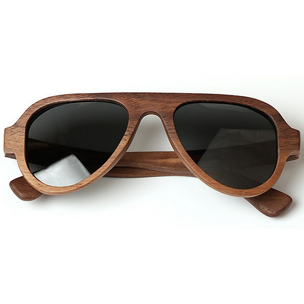 XINGZHE Wooden Sunglasses with Polarized Lenses for Men and Women Sunglasses