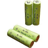 ASC Solar Light AA Ni-MH 600mAh Rechargable Batteries (Pack of 12) (AA 700mAh)