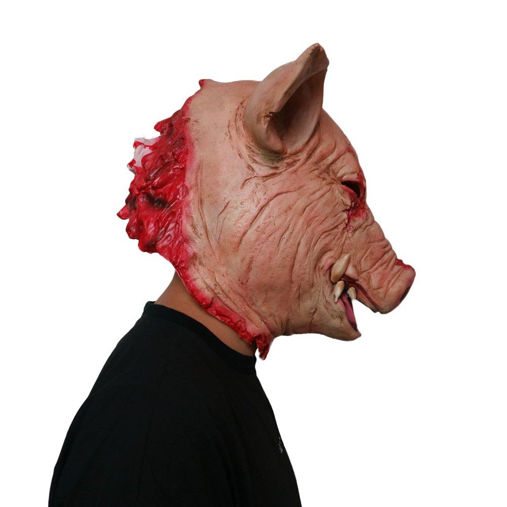 Scary Animal Halloween Masks.Xuanyou Horror Bloody Pig Latex Mask Scary Animal Full Headgear Halloween Mask Toys Games Masks Ekbotefurniture Com