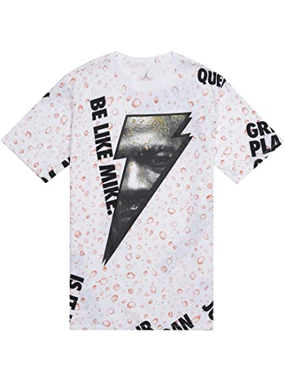 64f120f8efd5d8 NIKE Mens Jordan JSW Like Mike AOP T-Shirt AJ1165 at Amazon Men s Clothing  store