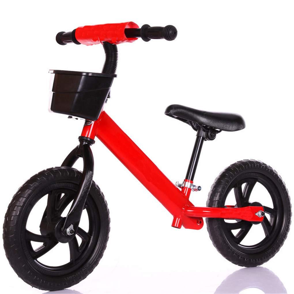 barato ZQZN Niños Dos Ruedas Equilibrio Equilibrio Equilibrio Bicicleta-12 Pulgadas Caminador Infantil Bicicleta Portátil Sin Pedal Pedal Niños Bicicleta Bebé Caminante Montar Juguetes,Red  la mejor oferta de tienda online